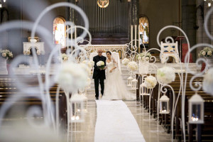 Allestimento chiesa, The White Rose Wedding Planner Milano
