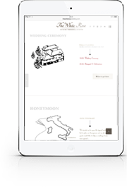 iPad sito sposi, The White Rose Wedding Planner Milano