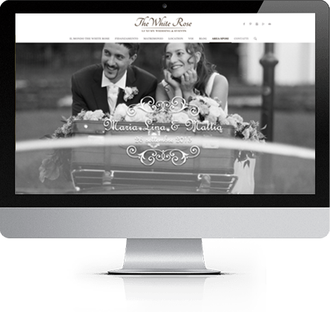 iMac sito sposi, The White Rose Wedding Planner Milano