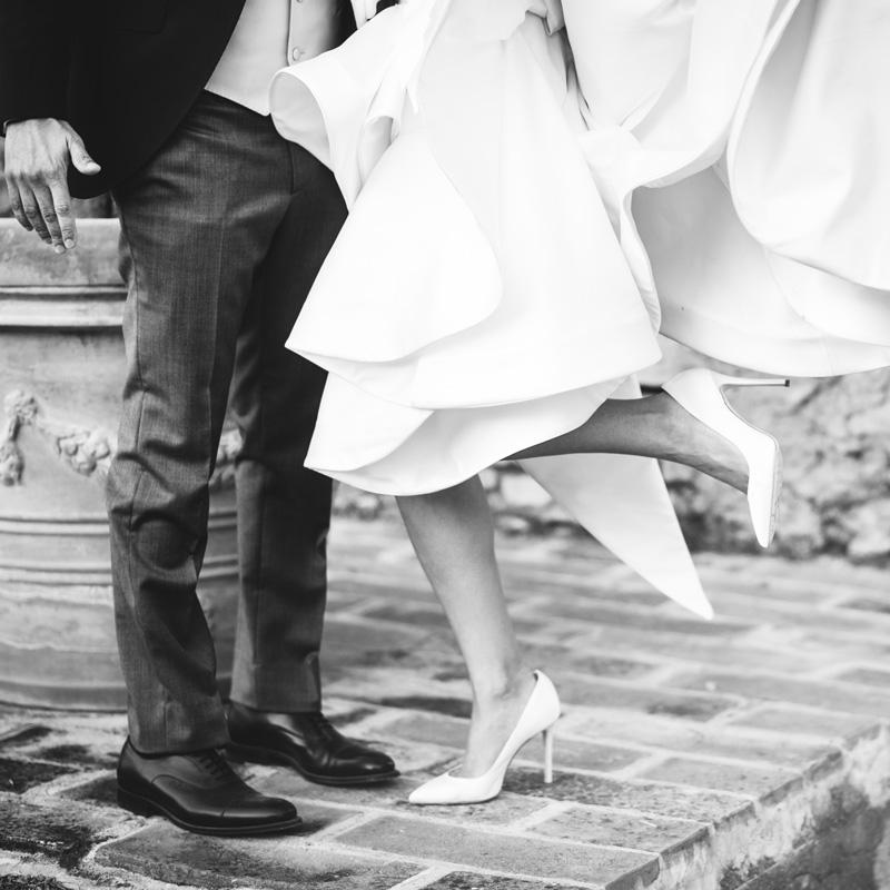 Scarpe sposo e sposa