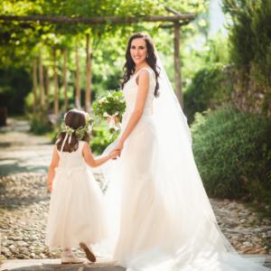 Sposa con bambina