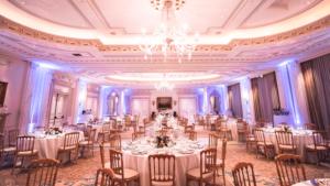 Allestimento cena di matrimonio in location di lusso