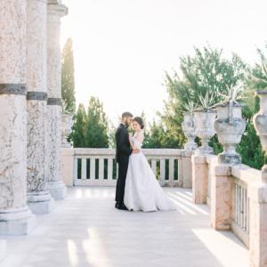 Sposi in villa classica